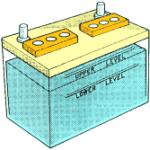 bateria y electrolito