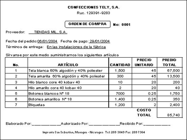 Los documentos comerciales con sus aplicaciones webscolar for Manual de compras de un restaurante pdf