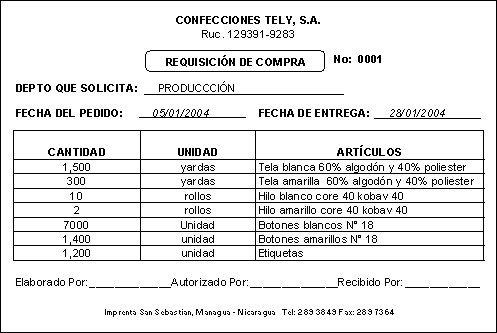 Los documentos comerciales la requisici n y orden de for Cocina internacional pdf